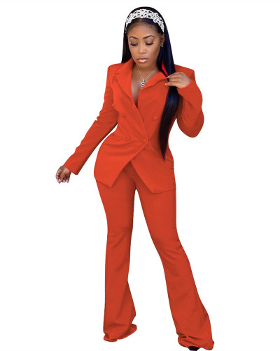 Red Fashion casual suit two-piece suit