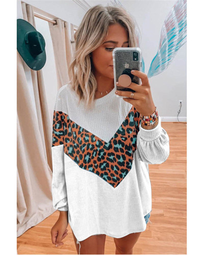 Women's Long Sleeve Printed Sweater Top