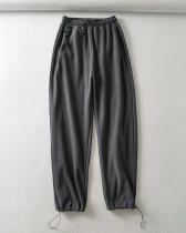 Gray Casual straight-leg pants