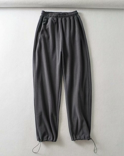Gray Casual straight-leg pants