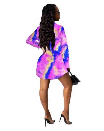4 Printed shirt multicolor women's skirt