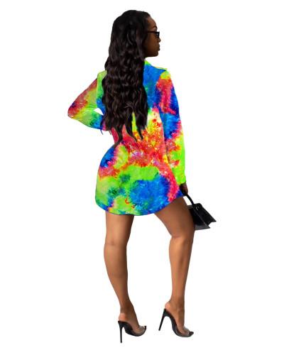 6 Printed shirt multicolor women's skirt