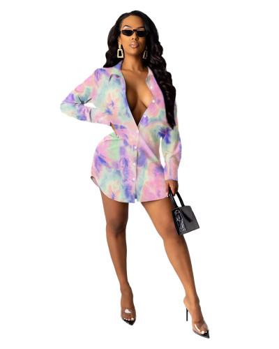 1 Printed shirt multicolor women's skirt