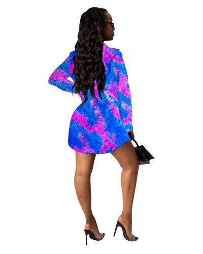 3 Printed shirt multicolor women's skirt