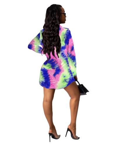 5 Printed shirt multicolor women's skirt