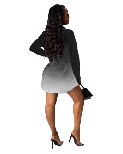 Black Letter print shirt multicolor women's skirt