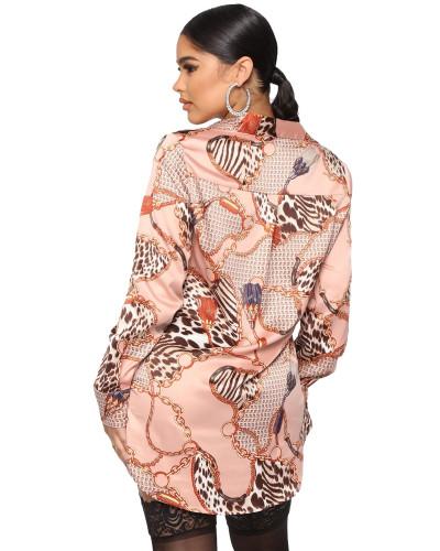 Pink Fashion hot sale hot printing shirt multi-color women's skirt