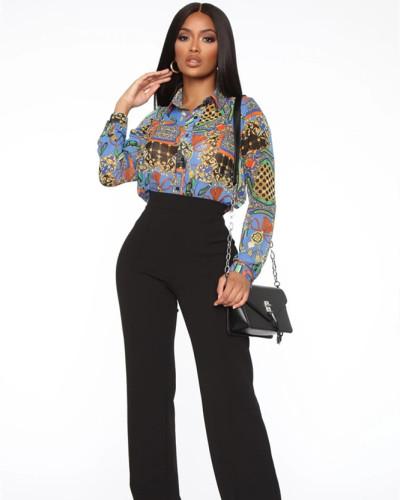 Gray Fashion hot sale hot printing shirt multi-color women's skirt