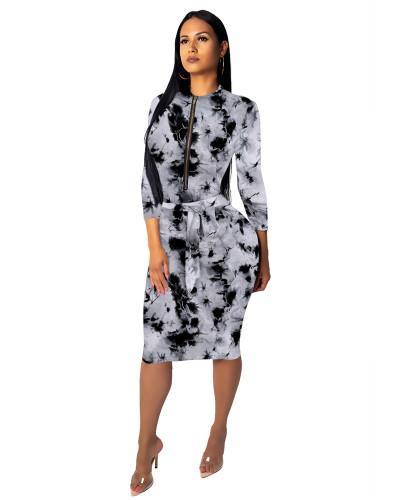 2 Fashionable female slim one-piece dress