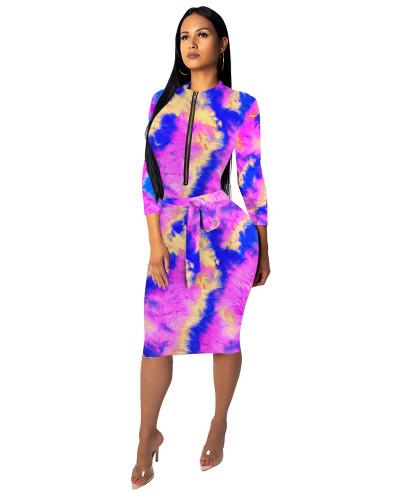4 Fashionable female slim one-piece dress