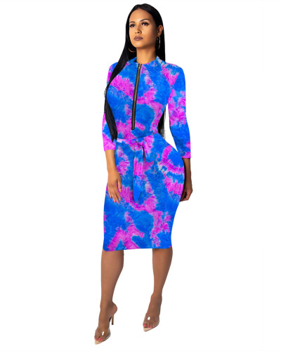3 Fashionable female slim one-piece dress