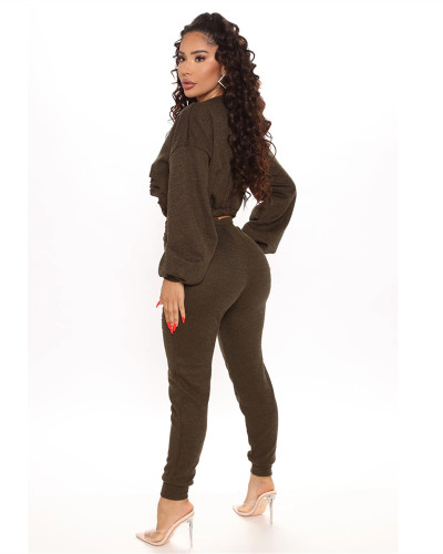 Black Casual fashion classic solid color suit two-piece suit