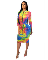 6 Fashionable female slim one-piece dress