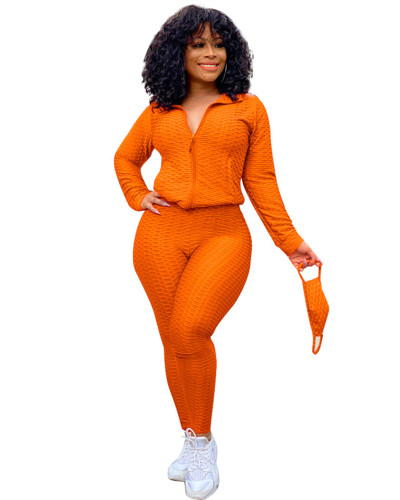 Orange Fashion Yoga Sports Suit