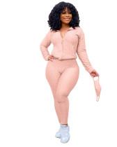 Pink Fashion Yoga Sports Suit