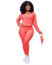 Rose Red Fashion Yoga Sports Suit