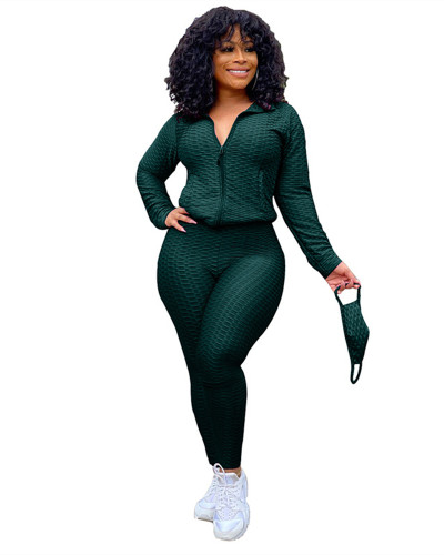 Green Fashion Yoga Sports Suit