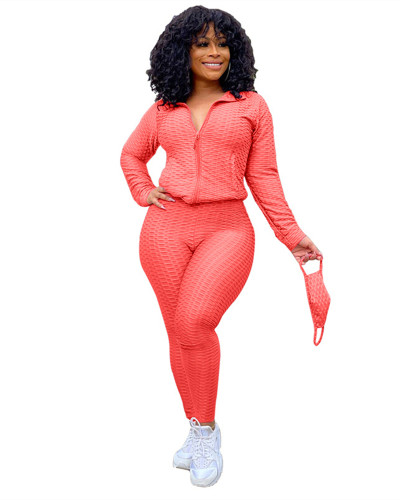 Orange Red Fashion Yoga Sports Suit