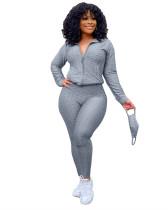 Gray Fashion Yoga Sports Suit