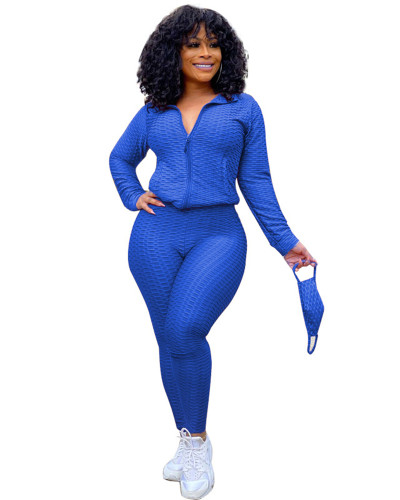 Blue Fashion Yoga Sports Suit