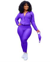 Purple Fashion Yoga Sports Suit