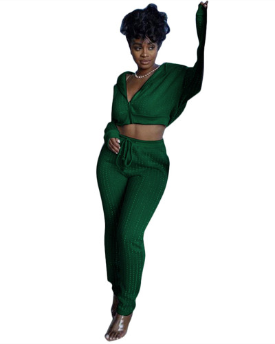 Green Sports and leisure two-piece suit
