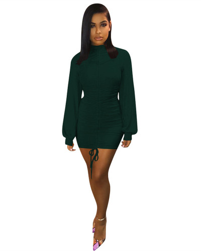 Green Lantern sleeve tight dress