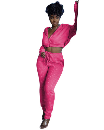 Rose Red Sports and leisure two-piece suit