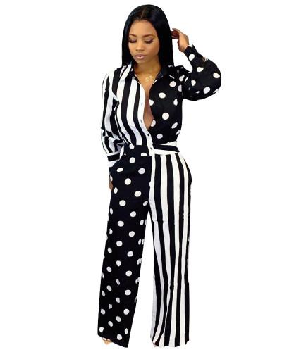 Black Printed casual jumpsuit