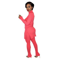 Rose Red Two-piece sleeve pit strip