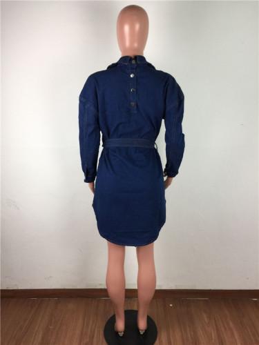Blue Denim sexy dress
