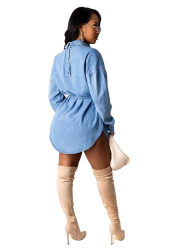 Light Blue Denim sexy dress