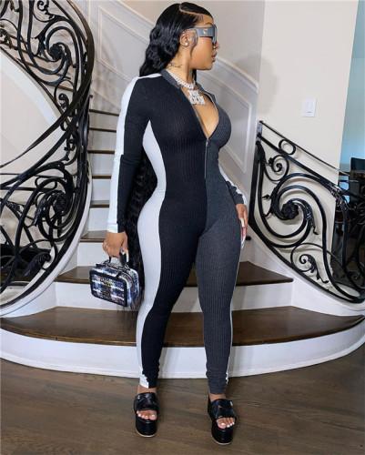 Black&White Multi color matching slim one piece