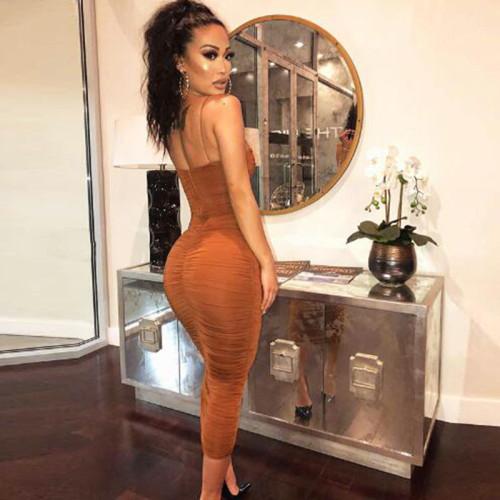 Brown Sling dress