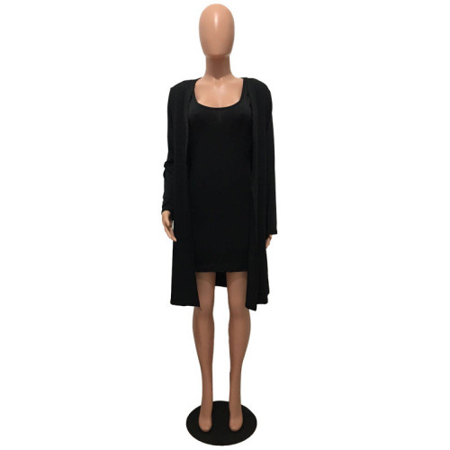 Black Two piece leisure fashion jacket