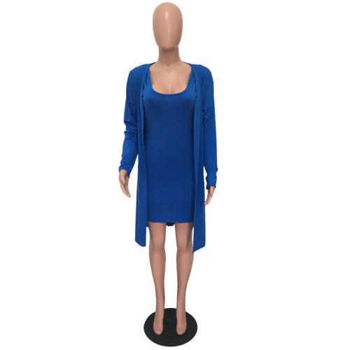 Blue Two piece leisure fashion jacket