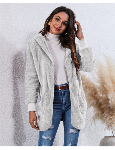 Light Gray Wear an anti-fur coat on both sides