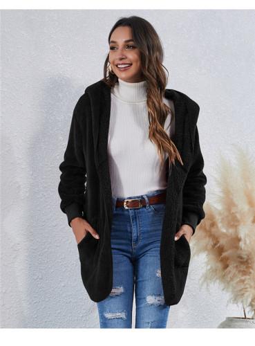 Black Wear an anti-fur coat on both sides
