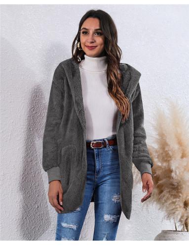 Dark Gray Wear an anti-fur coat on both sides