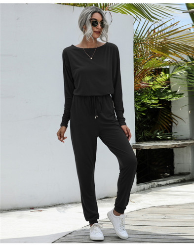 Black Fashion loose-fitting casual trousers
