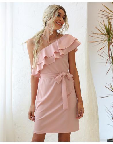 Pink Tie sexy dress