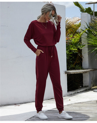 Red Fashion loose-fitting casual trousers