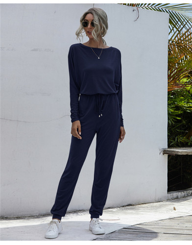 Blue Fashion loose-fitting casual trousers