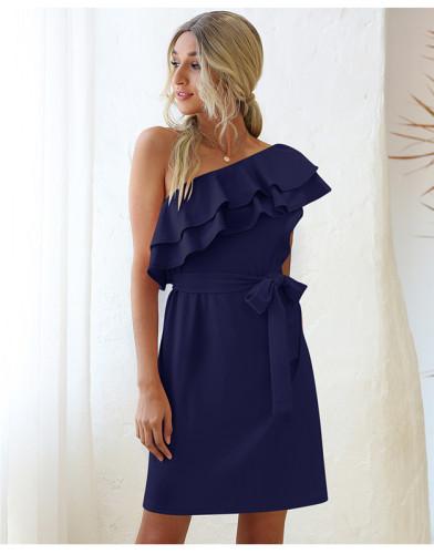 Blue Tie sexy dress