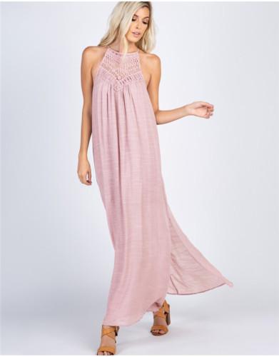 Pink Long loose dress