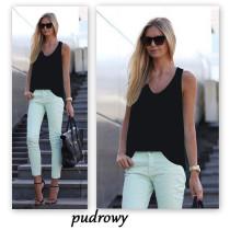 Black Solid color sleeveless suspender chiffon shirt
