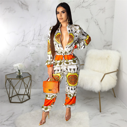 Sexy fashion printed women's Jumpsuit