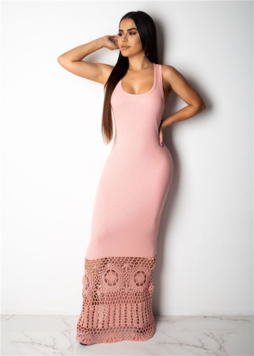 Pink Sexy fashion Pullover dress