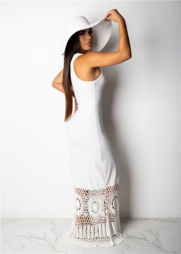 White Sexy fashion Pullover dress