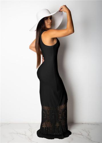 Black Sexy fashion Pullover dress